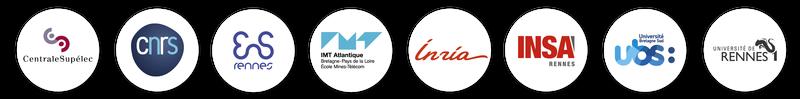 Logos des 8 tutelles de l'IRISA